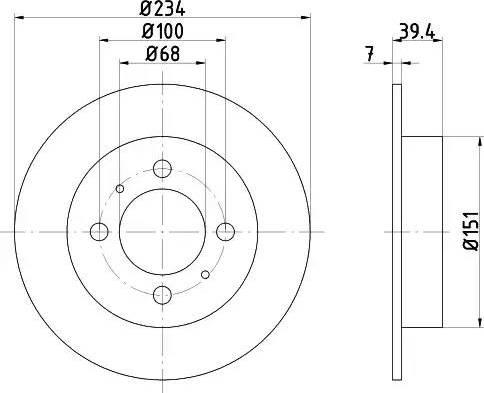 HELLA 8DD 355 105-151 - Bremžu diski interparts.lv