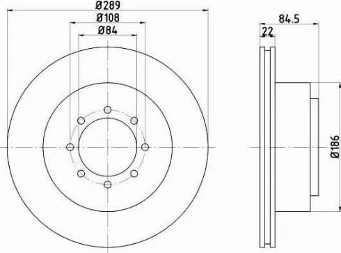 HELLA 8DD 355 105-791 - Bremžu diski interparts.lv