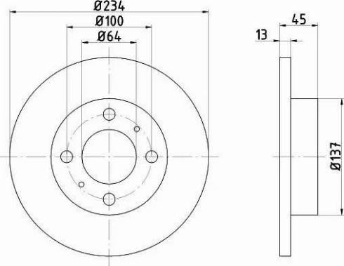 HELLA 8DD 355 105-761 - Bremžu diski interparts.lv