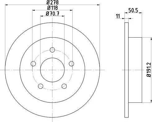 HELLA 8DD 355 106-961 - Bremžu diski interparts.lv