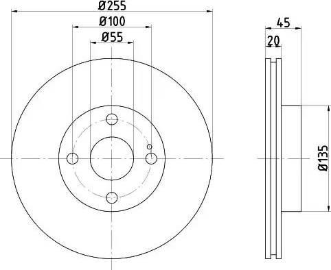 HELLA 8DD 355 106-491 - Bremžu diski interparts.lv
