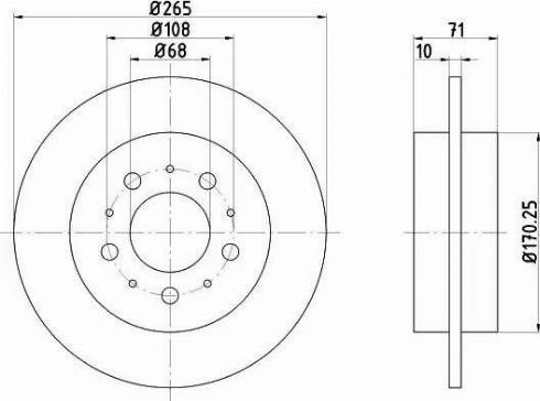 HELLA 8DD 355 106-621 - Bremžu diski interparts.lv