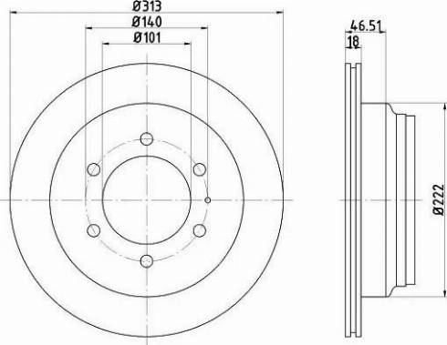 HELLA 8DD 355 106-021 - Bremžu diski interparts.lv