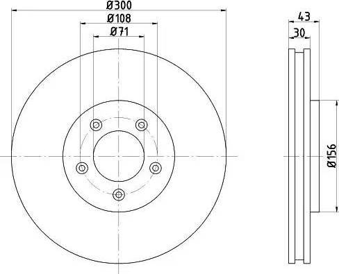 HELLA 8DD 355 106-821 - Bremžu diski interparts.lv