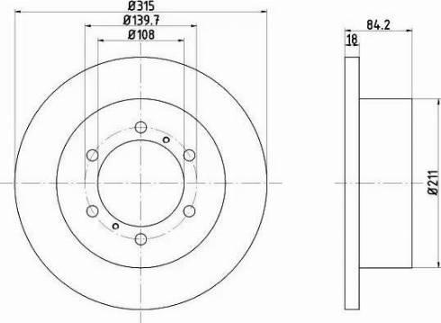 HELLA 8DD 355 106-221 - Bremžu diski interparts.lv