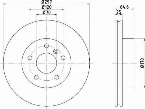 HELLA 8DD 355 106-271 - Bremžu diski interparts.lv