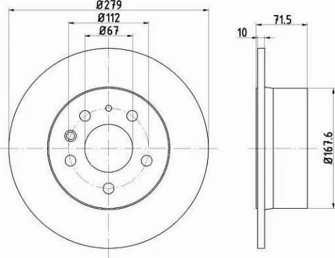 HELLA 8DD 355 100-991 - Bremžu diski interparts.lv