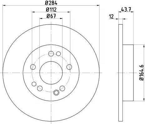 HELLA 8DD 355 100-931 - Bremžu diski interparts.lv