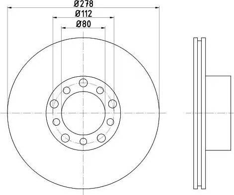 HELLA 8DD 355 100-401 - Bremžu diski interparts.lv