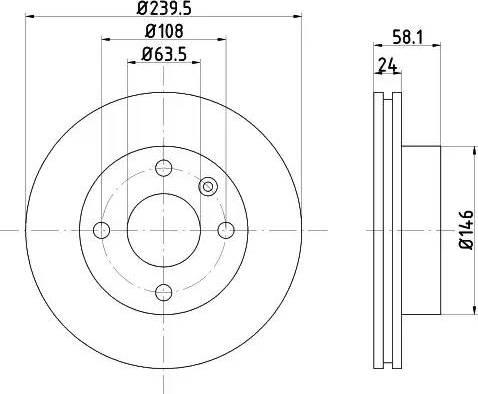 HELLA 8DD 355 100-531 - Bremžu diski interparts.lv