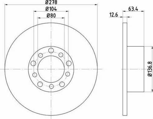HELLA 8DD 355 100-071 - Bremžu diski interparts.lv
