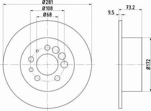HELLA 8DD 355 100-891 - Bremžu diski interparts.lv