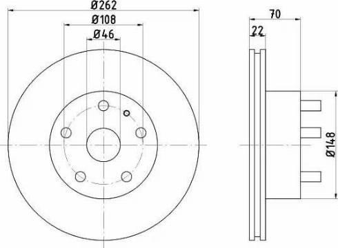 HELLA 8DD 355 100-881 - Bremžu diski interparts.lv
