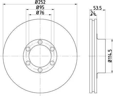 HELLA 8DD 355 100-331 - Bremžu diski interparts.lv
