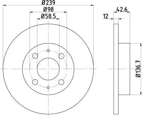 HELLA 8DD 355 101-481 - Bremžu diski interparts.lv