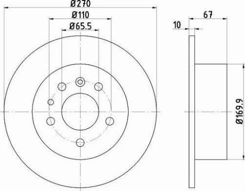 HELLA 8DD 355 101-431 - Bremžu diski interparts.lv