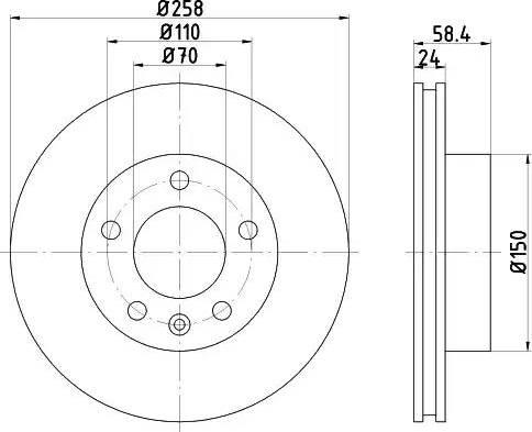 HELLA 8DD 355 101-421 - Bremžu diski interparts.lv