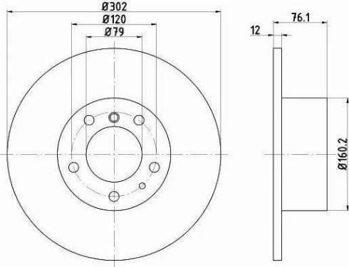 HELLA 8DD 355 101-691 - Bremžu diski interparts.lv
