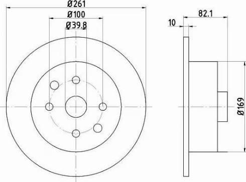 HELLA 8DD 355 101-671 - Bremžu diski interparts.lv