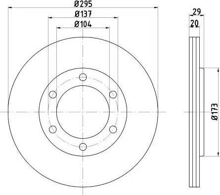 HELLA 8DD 355 101-191 - Bremžu diski interparts.lv