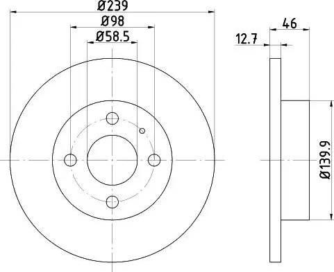 HELLA 8DD 355 101-861 - Bremžu diski interparts.lv