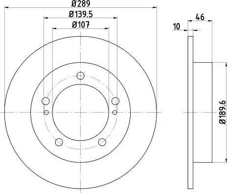 HELLA 8DD 355 101-291 - Bremžu diski interparts.lv