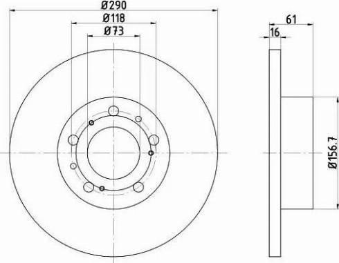 HELLA 8DD 355 101-781 - Bremžu diski interparts.lv