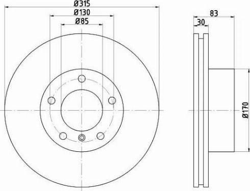HELLA 8DD 355 108-581 - Bremžu diski interparts.lv