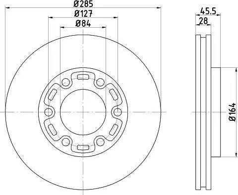 HELLA 8DD 355 108-531 - Bremžu diski interparts.lv