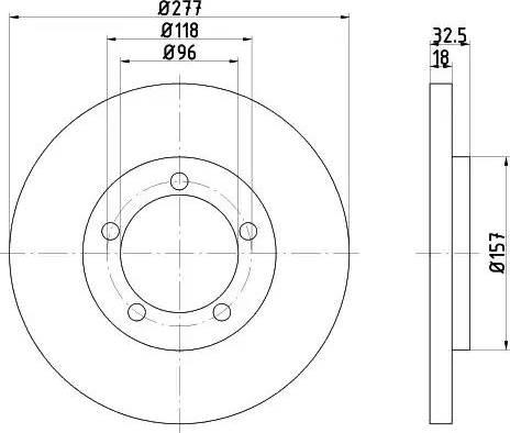 HELLA 8DD 355 108-681 - Bremžu diski interparts.lv