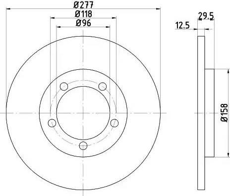HELLA 8DD 355 108-671 - Bremžu diski interparts.lv