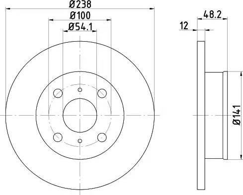HELLA 8DD 355 103-551 - Bremžu diski interparts.lv