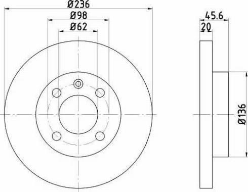 HELLA 8DD 355 103-571 - Bremžu diski interparts.lv