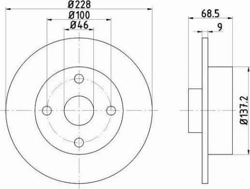 HELLA 8DD 355 103-621 - Bremžu diski interparts.lv