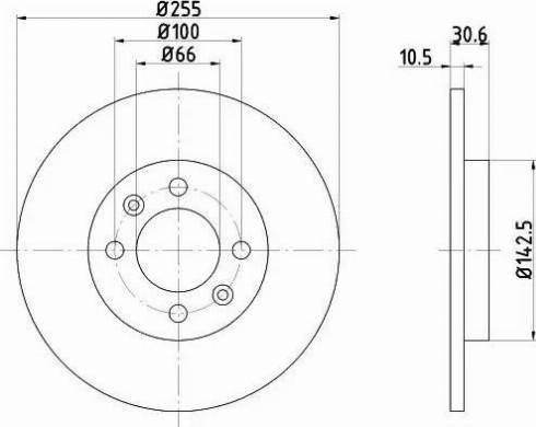HELLA 8DD 355 103-891 - Bremžu diski interparts.lv