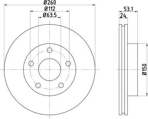 HELLA 8DD 355 103-801 - Bremžu diski interparts.lv