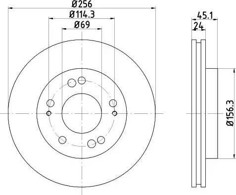 HELLA 8DD 355 103-311 - Bremžu diski interparts.lv