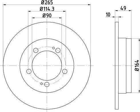 HELLA 8DD 355 103-321 - Bremžu diski interparts.lv