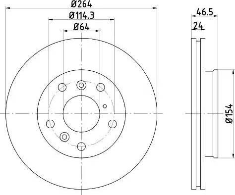 HELLA 8DD 355 103-211 - Bremžu diski interparts.lv