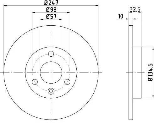 HELLA 8DD 355 103-771 - Bremžu diski interparts.lv