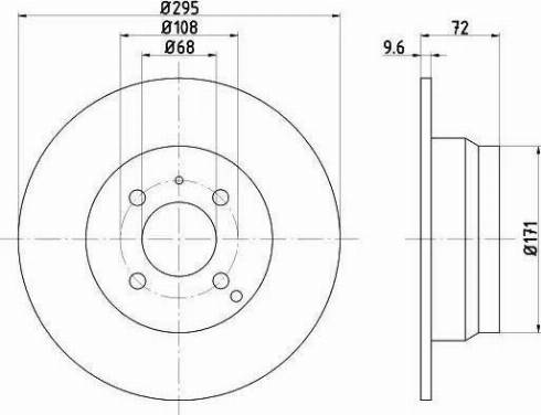 HELLA 8DD 355 102-911 - Bremžu diski interparts.lv