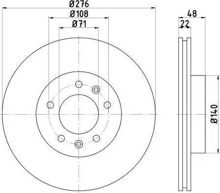 HELLA 8DD 355 102-451 - Bremžu diski interparts.lv