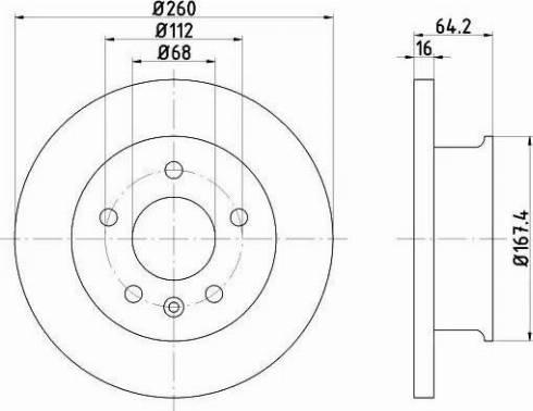 HELLA 8DD 355 102-621 - Bremžu diski interparts.lv
