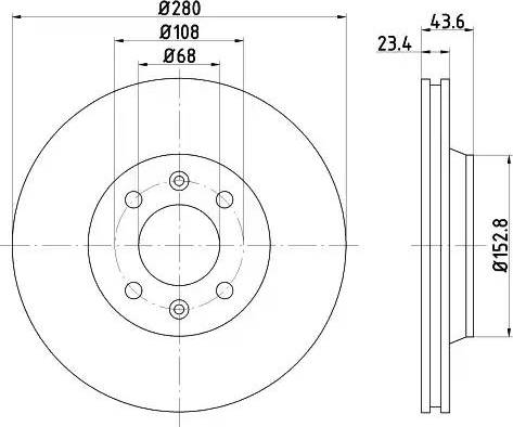 HELLA 8DD 355 102-081 - Bremžu diski interparts.lv
