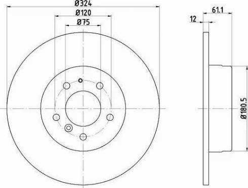 HELLA 8DD 355 102-881 - Bremžu diski interparts.lv