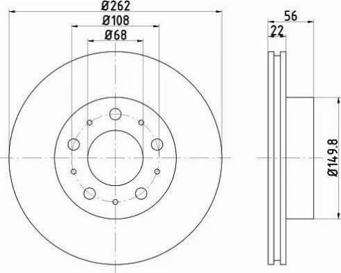 HELLA 8DD 355 102-241 - Bremžu diski interparts.lv