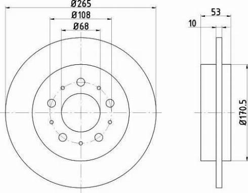 HELLA 8DD 355 102-261 - Bremžu diski interparts.lv