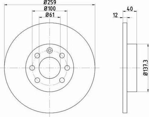 HELLA 8DD 355 102-201 - Bremžu diski interparts.lv