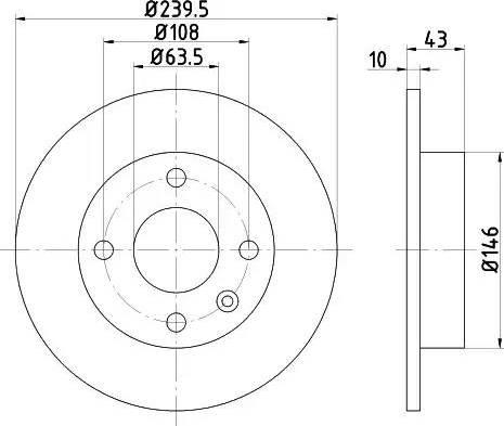 HELLA 8DD 355 102-211 - Bremžu diski interparts.lv