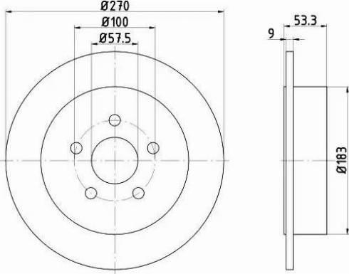 HELLA 8DD 355 107-921 - Bremžu diski interparts.lv